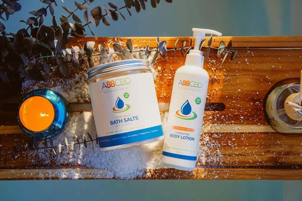 A88CBD topical and bath salts